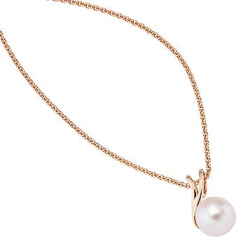 Trailer 585 gold pink gold 1 freshwater pearl beads pendants gold