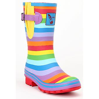 Evercreatures Ladies Evergreen Wellington Boots Rainbow Pattern Various Sizes