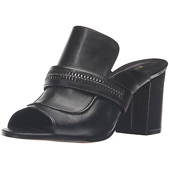 Nine West Womens Gerri Leather Open Toe Mules Mules