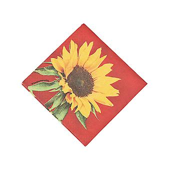 16 Small Sunflower 2-Ply Paper Decopatch Napkins | Decoupage Crafts