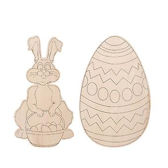 12 Jumbo Easter Wood Shapes to Decorate for Easter Hunt Parties