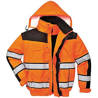 Portwest Mens High Visibility Classic All Weather Bomber Jacket