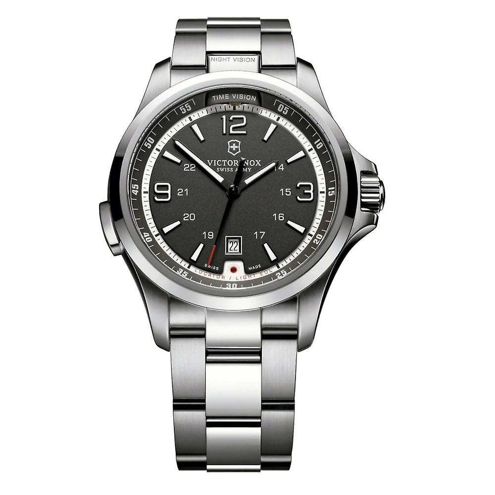 Victorinox Swiss Army 241569 Night Visiton Stainless Steel & Black Dial Swiss Watch