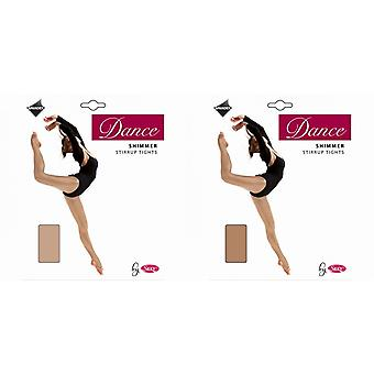 Silky Womens/Ladies Dance Shimmer Stirrup Tights (1 Pair)