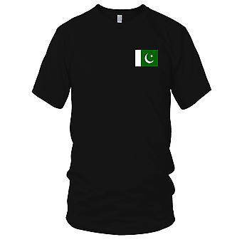 Pakistan Country National Flag - Embroidered Logo - 100% Cotton T-Shirt Ladies T Shirt