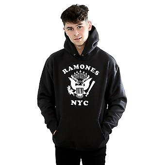 Ramones Men's Retro Eagle NYC Hoodie