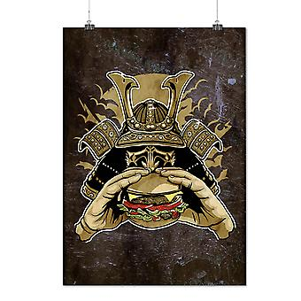 Matte or Glossy Poster with Hamburger Armor Japan | Wellcoda | *d2759