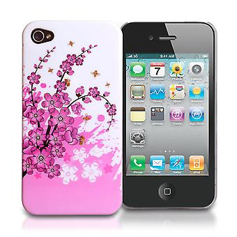 Yousave Accessories Iphone 4 And 4s Floral Bee Silicone Gel Case