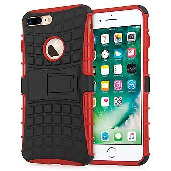 Caseflex Iphone 7 Plus støtteben Combo sag - rød
