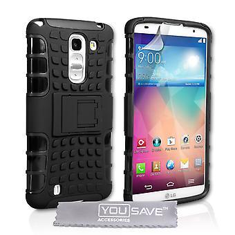 Yousave tillbehör LG G Pro 2 utmärker Combo Case - svart