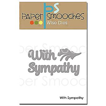 Paper Smooches Dies-With Sympathy NOD417