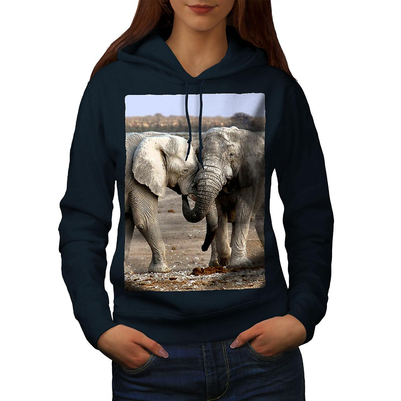 Éléphant aime les femmes sauvages NavyHoodie