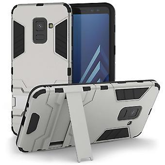 Samsung Galaxy A8 (2018) Armour Kickstand Case - zilver
