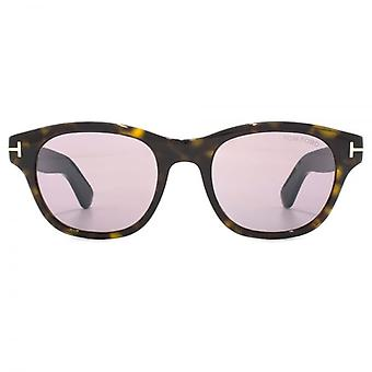 Tom Ford OKeefe Sunglasses In Dark Havana Violet