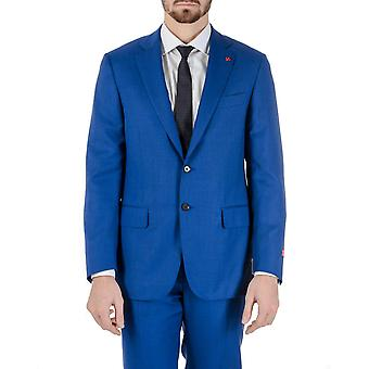 Isaia Mens Suit Blue