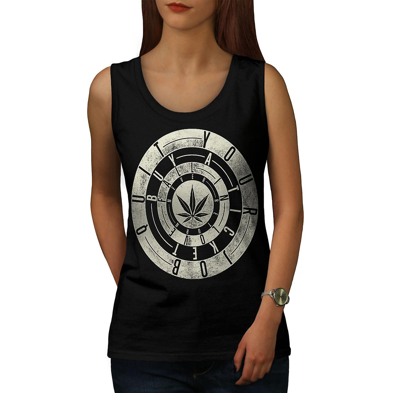 Inspirational Weed Rasta donne BlackTank Top | Wellcoda