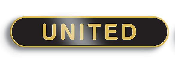 Black United Enamel Bar Badge - Old School Style!