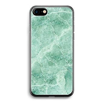iPhone 7 Transparent Case - Green marble