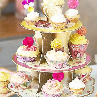 Truly Scrumptious 3 Tier Cardboard Cupcake Stand Wedding / Party Floral