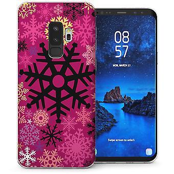 Samsung Galaxy S9 Plus sneeuwvlok kerst Gel TPU Case – roze