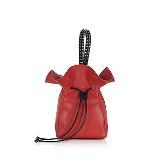 3.1 Phillip Lim women's AS18A871PLGSC001 red leather clutch