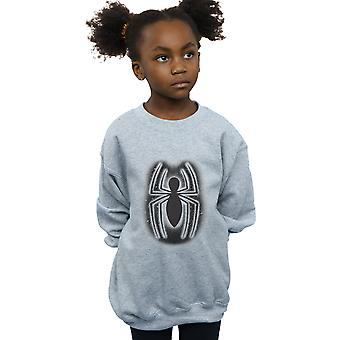Marvel Girls Spider-Man Graffiti Logo Sweatshirt