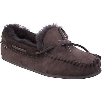 Cotswold Womens/Ladies Stanway Sheepskin Premium Moccasin Slippers