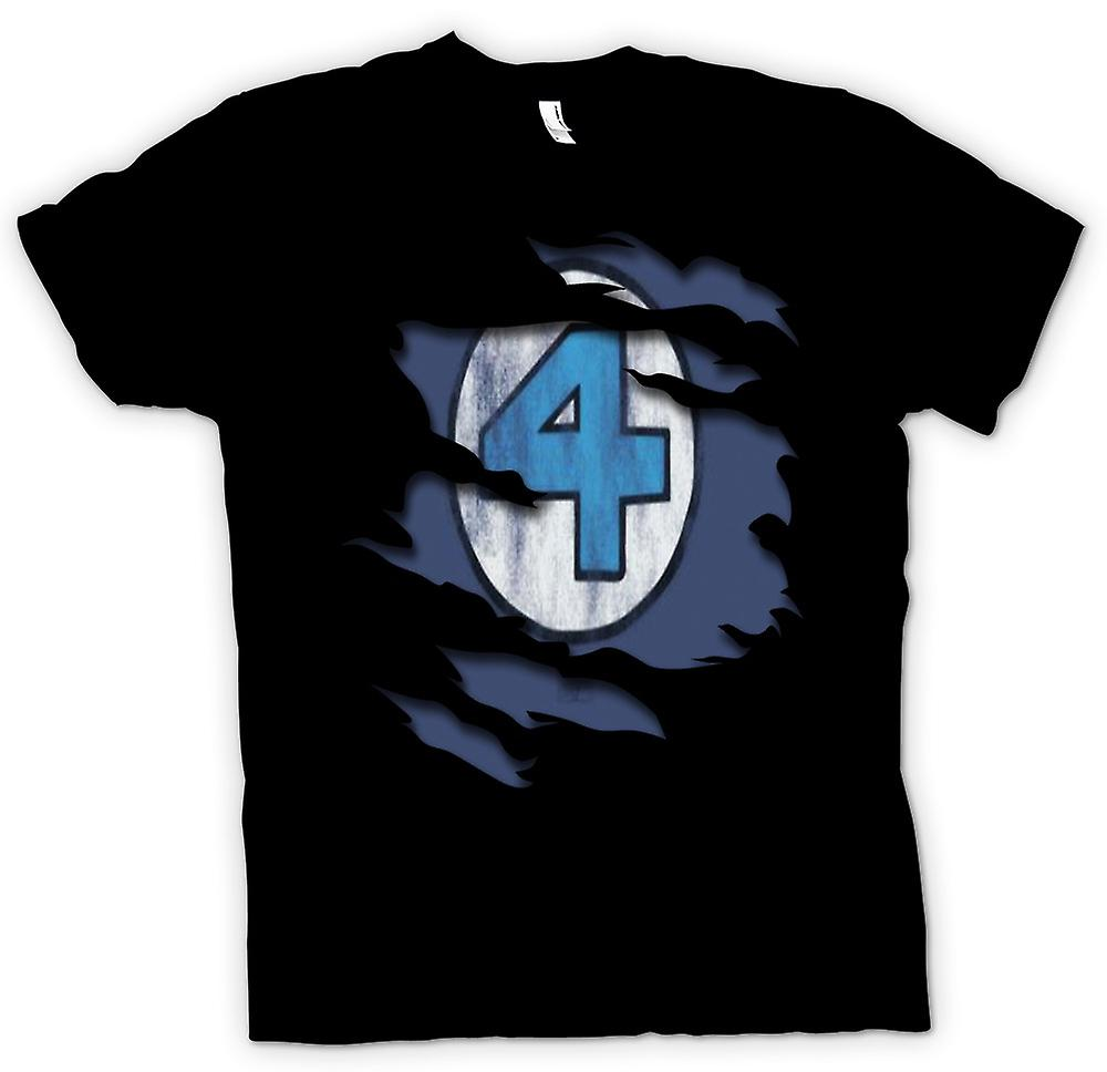 Mens T-shirt - Fantastic 4 - Ripped Effect