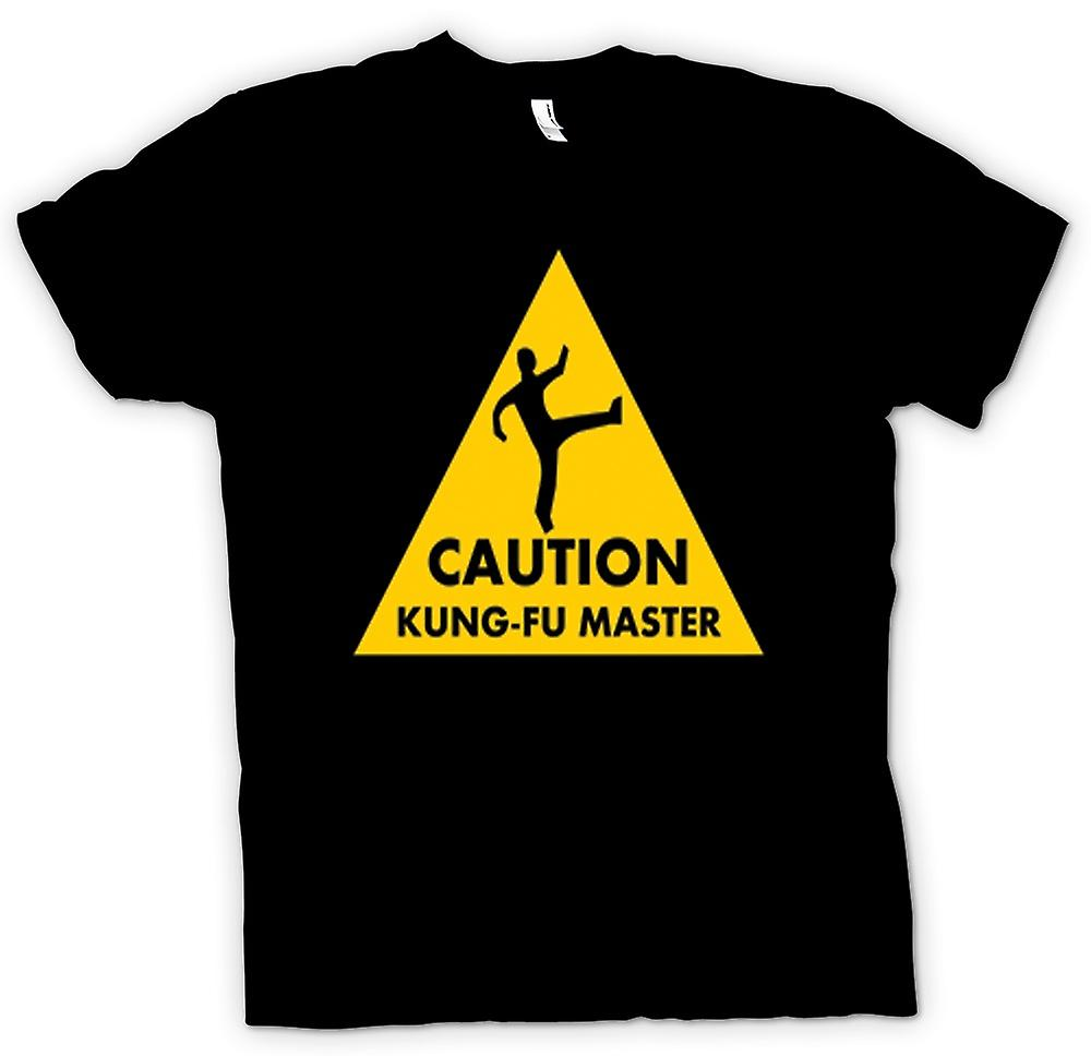 Womens T-shirt - Caution - Kung Fu Master Warning Sign