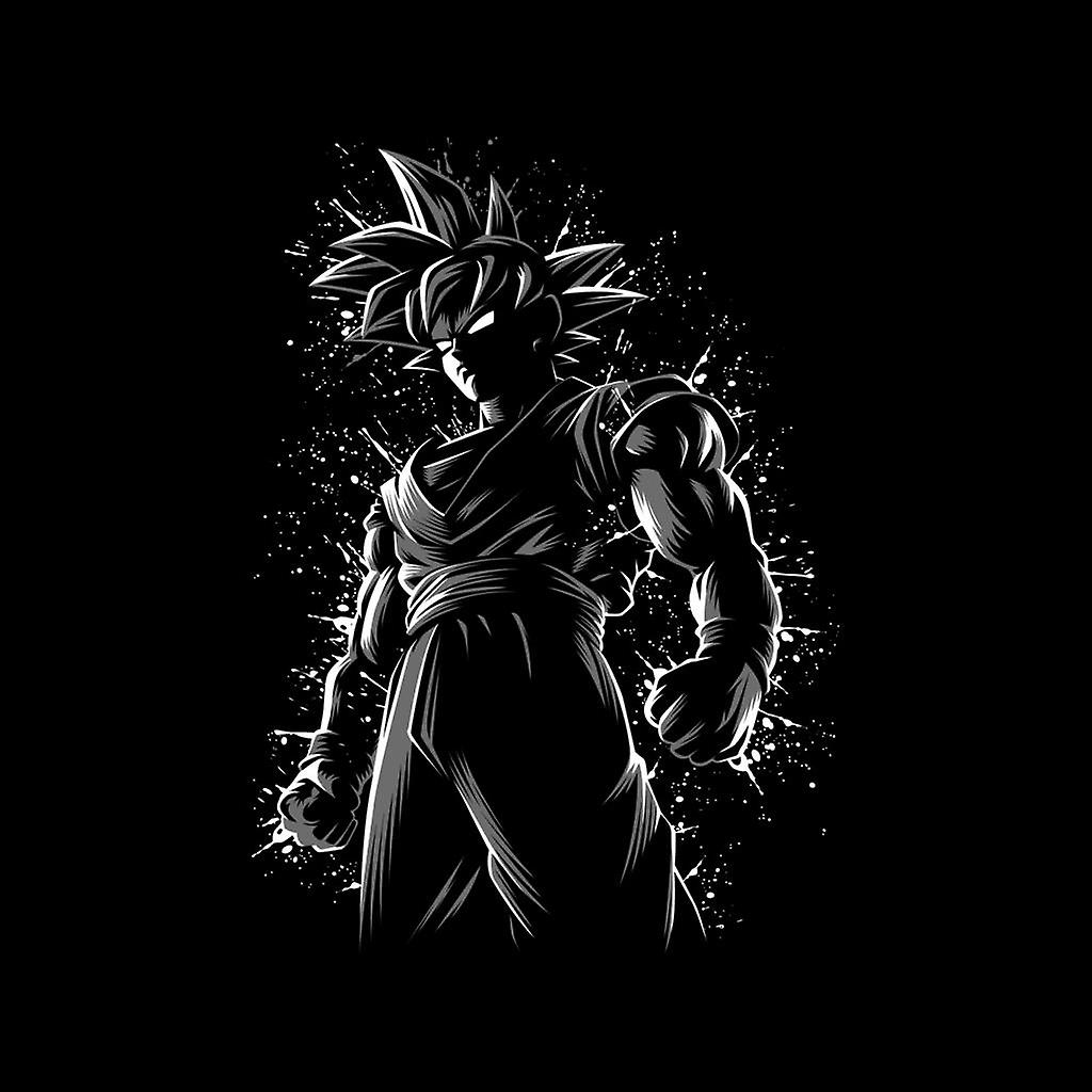 Dragon ball z goku ink black background mens varsity jacket