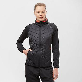 New Technicals Women's Long Sleeve Full Zip Spring Hybrid Jacket Black