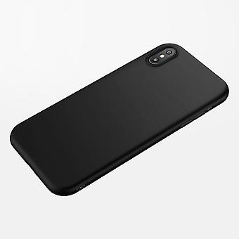 Matte black shell case for iphone X + tempered glass to the front!