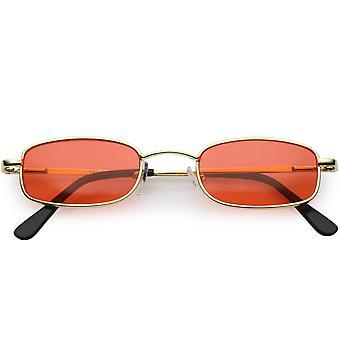 90 مستطيل صغير نظارات الأسلحة ضئيلة لون العدسة ملون 45 ملم