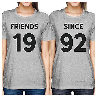 Friends Since Grey Best Friend Matching Shirts Custom Holiday Gifts