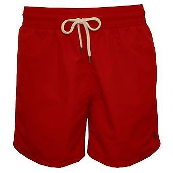 Polo Ralph Lauren Traveller Swim Shorts, Red W/navy