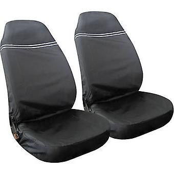 Osłona chroniąca przed zabrudzeniem Eufab 28115 2 x poliester czarny, srebrny (odblaskowa) siedzenia kierowcy, siedzenie pasażera