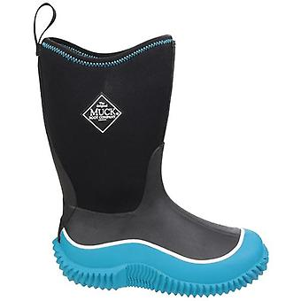 Muck Boots Childrens Hale Black and Blue Wellington Boots
