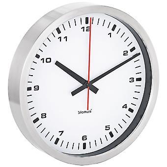 современные настенные часы с White Dial - тихий Blomus нержавеющей модель эра