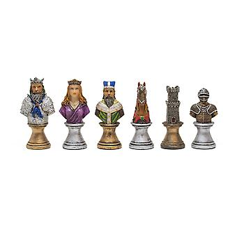 The Medieval Bust hand painted themed chess pieces by Italfama