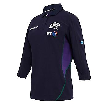 2018-2019 Scotland Macron Home Womens Cotton Rugby Shirt
