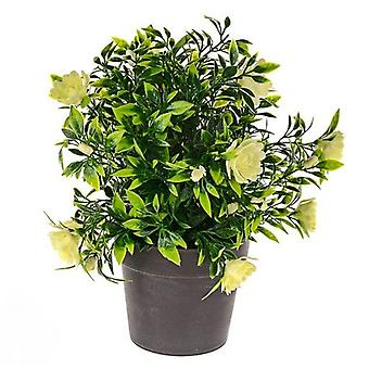 Artificial Silk Bloom Potted Plant Bush