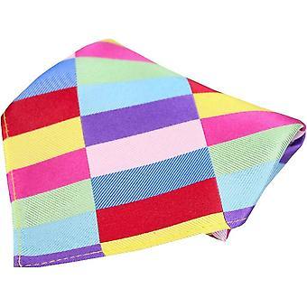 Posh and Dandy Rectangle Pattern Silk Pocket Square - Multi-colour