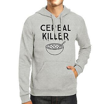 Cereal Killer Funny Graphic Hoodies Grey Halloween Horror Nights