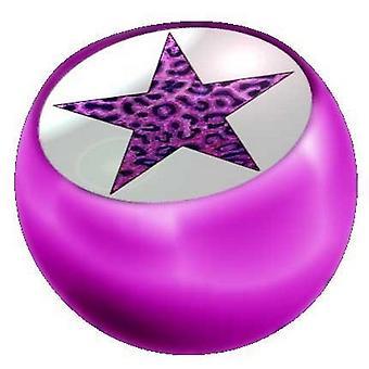 Piercing Ersatz Ball Pink, Körper Schmuck, lila Leopard Stern | 1,6 x 5 und 6 mm