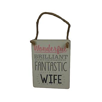 Gisela Graham Wonderful Wife Plaque