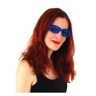 Glasögon blå glitter glasögon