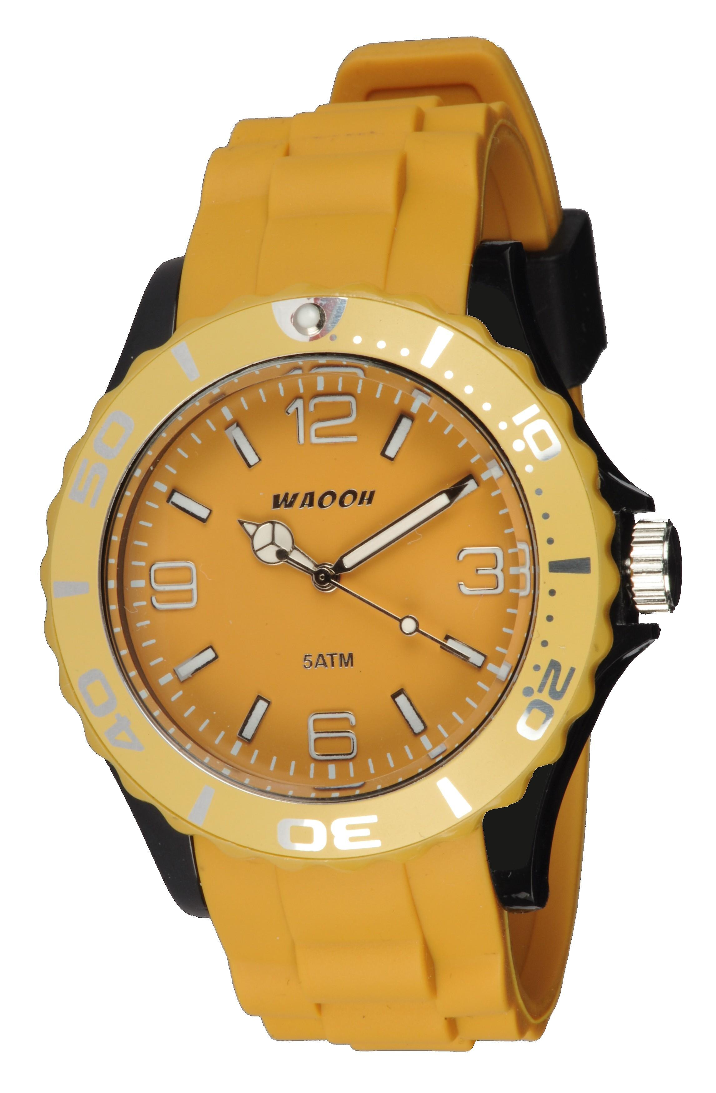 Waooh - Montre MC42 Bicolore & jaune moutarde