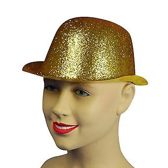 Glitter Gold Plastic Bowler.