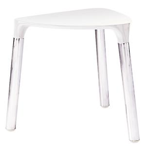 Gedy Yannis Stool White Leather Chrome 2172 E2