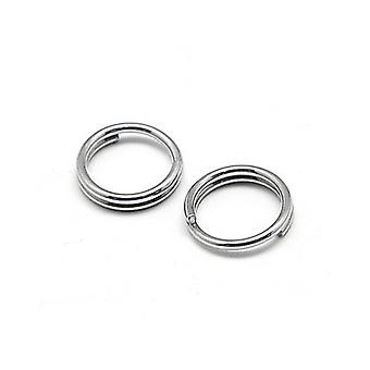 Packet 110+ Silver 304 Stainless Steel Round Split Rings 1.2 x 5mm Y00945